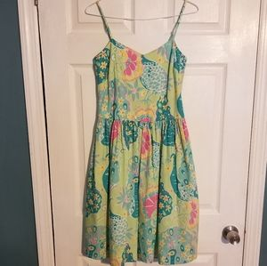 Lilly Pulitzer Southern Bell Peacock Dress